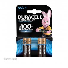 Батарейки Duracell Ultra Power LR03 AAA (1 упак - 4 шт)